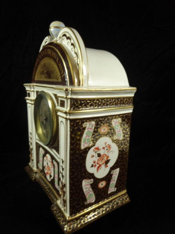 ANTIQUE WEDGWOOD CLOCK, MARKED WEDGWOOD AD 1877 ON - 4