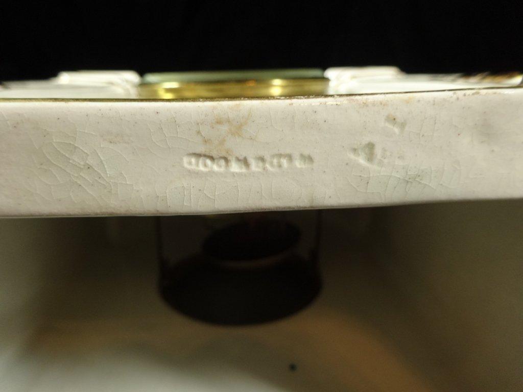 ANTIQUE WEDGWOOD CLOCK, MARKED WEDGWOOD AD 1877 ON - 9