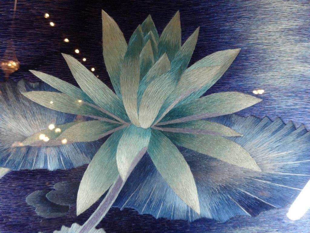 "SILK EMBROIDERY ARTWORK, ""BESIDE OF WATER"", WATER - 2"