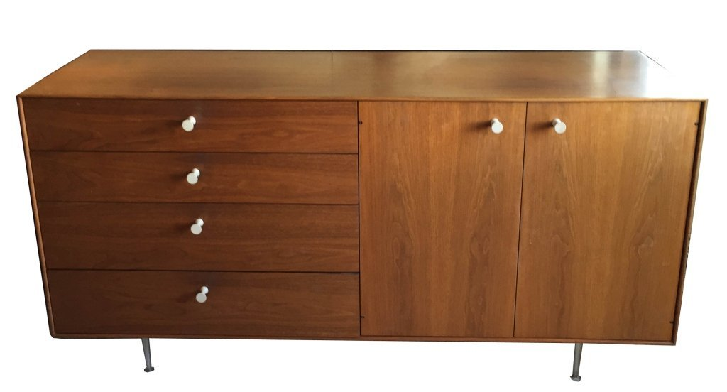 1960's GEORGE NELSON ROSEWOOD THIN EDGE BUFFET, BY HERM