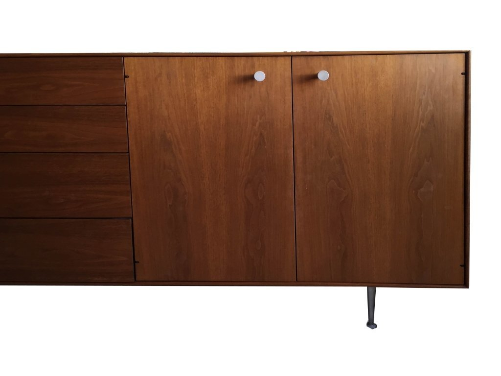 1960's GEORGE NELSON ROSEWOOD THIN EDGE BUFFET, BY HERM - 2