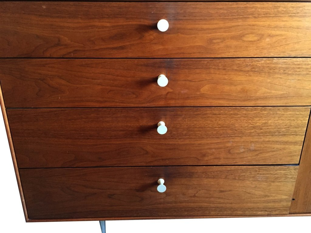 1960's GEORGE NELSON ROSEWOOD THIN EDGE BUFFET, BY HERM - 3