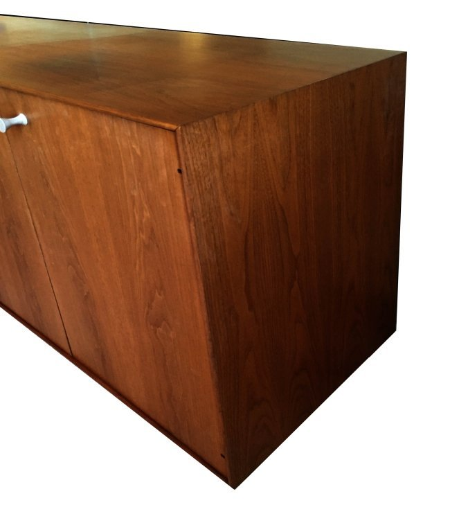 1960's GEORGE NELSON ROSEWOOD THIN EDGE BUFFET, BY HERM - 5