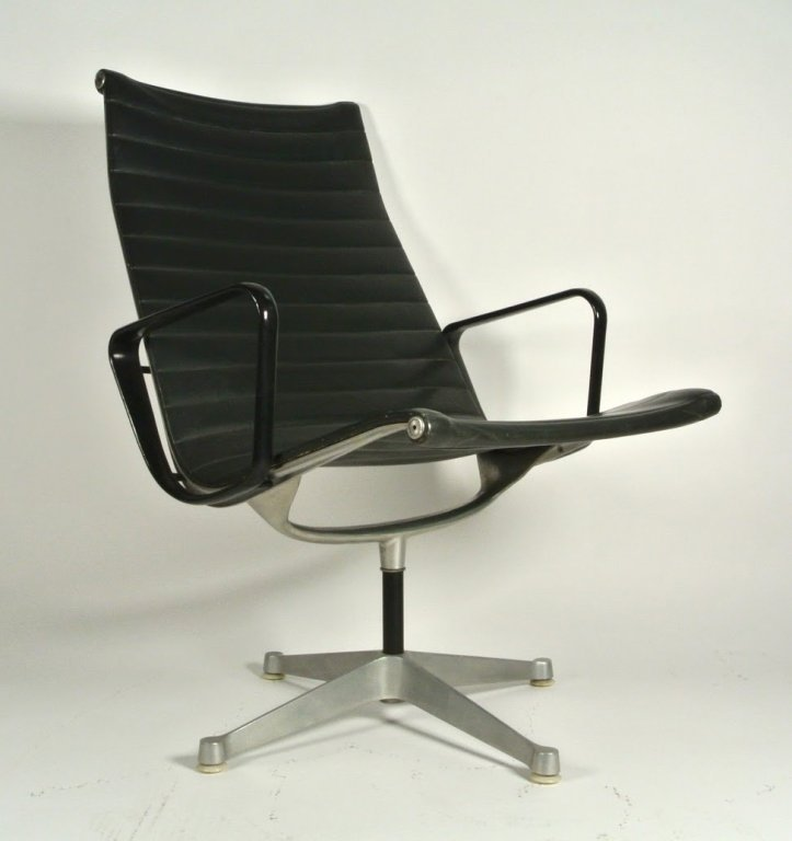 3 PC 1970's HERMAN MILLER HIGH BACK ALUMINUM GROUP NAUG - 2
