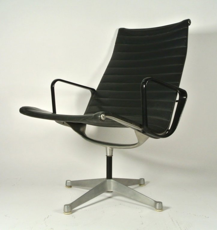 3 PC 1970's HERMAN MILLER HIGH BACK ALUMINUM GROUP NAUG - 3