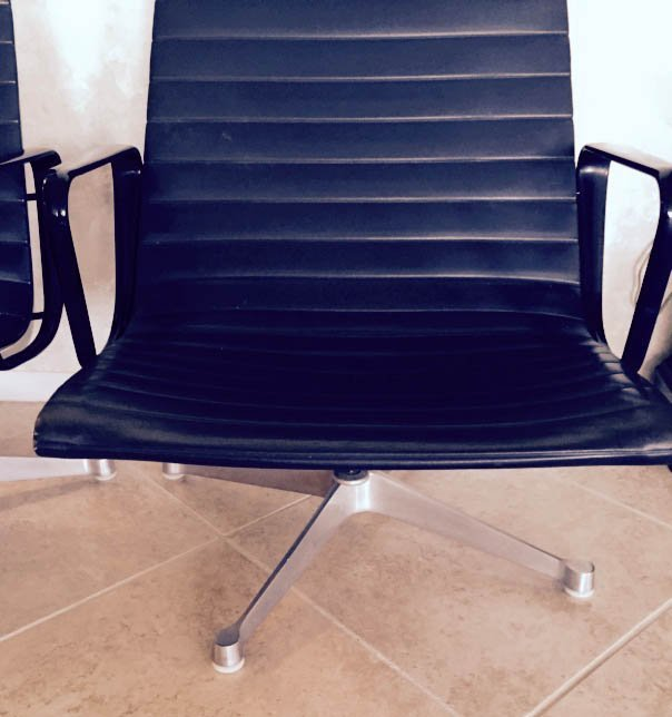 3 PC 1970's HERMAN MILLER HIGH BACK ALUMINUM GROUP NAUG - 6