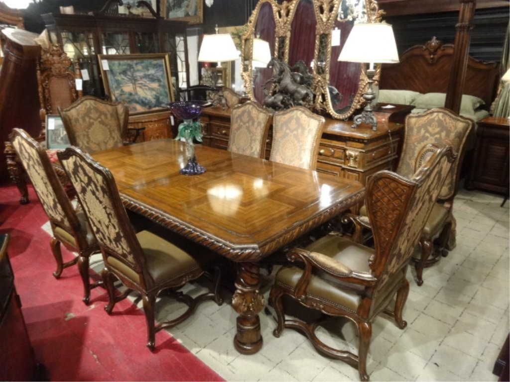 Marge Carson Segovia Dining Table With 8 Chairs 2