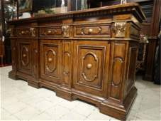 MARGE CARSON GILTWOOD ITALIANATE SIDEBOARD, 3 DRAWERS