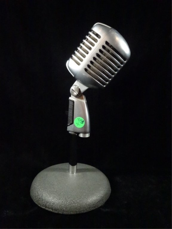 VINTAGE SHURE UNIDYNE MICROPHONE, MODEL 55SW, MADE IN