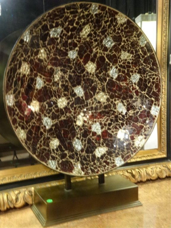 LARGE PLATTER, METALLIC GOLD AND COPPER FINISH, APPROX