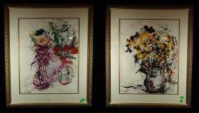 Theresa Bernstein Pair Of Paintings, Mixed Media On