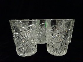 """5 Crystal Glasses, Approx 4""""h"""