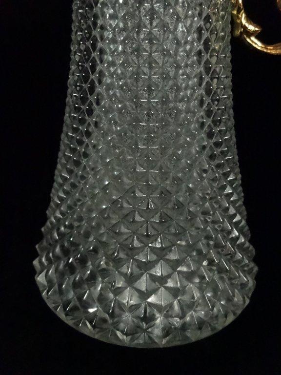 CRISTALLIN GILT METAL & GLASS EWER, MADE IN ITALY, - 3