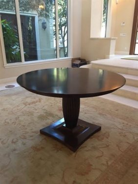 Contemporary Center Table Or Dining Table, Dark Finish,