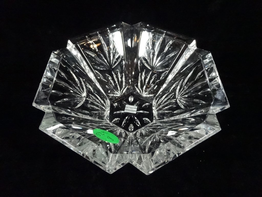 WMF 24% LEAD CRYSTAL BOWL, HEXAGONAL, MADE IN GERMANY, - 2
