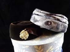 6 VINTAGE HATS WITH 3 HAT BOXES, SKU5321.06