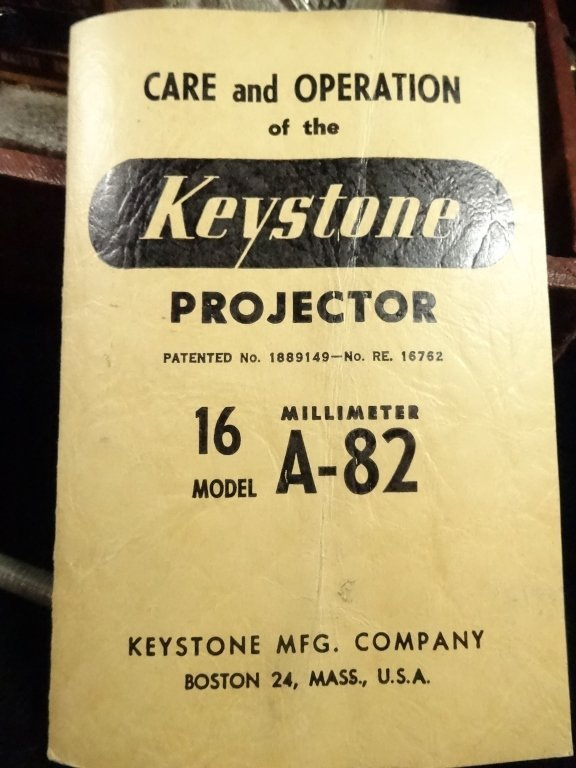 KEYSTONE 16 MM MOVIE PROJECTOR, MODEL A-82, WITH CASE - 4