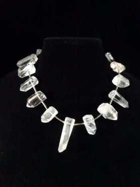 Rock Crystal And Sterling Silver Necklace By Martin