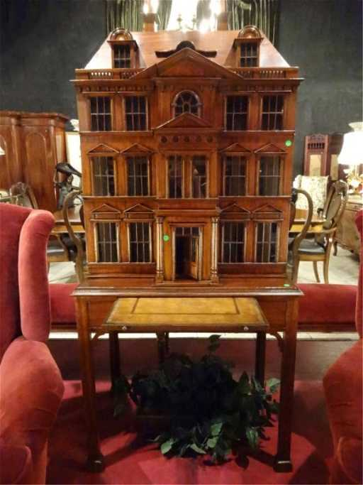 Maitland Smith House Shape Bar Cabinet In The Form Of A