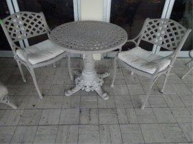 5 Pc Cast Aluminum Patio Set, Includes Bistro Table