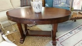 Oval French Art Deco Style Table Or Writing Desk,