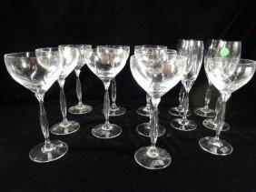 13 Pc Spiegelau Wine Glasses & Champagne Flutes,