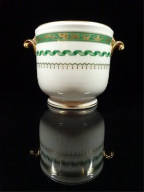 Richard Ginori Porcelain Cachepot, Made In Italy,
