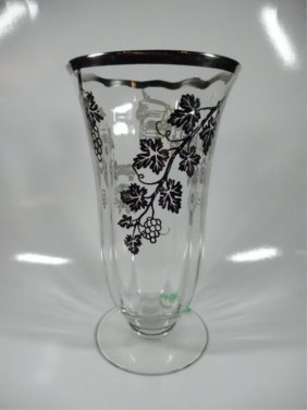 """Silver Overlay Vase, Approx 10""""h"""