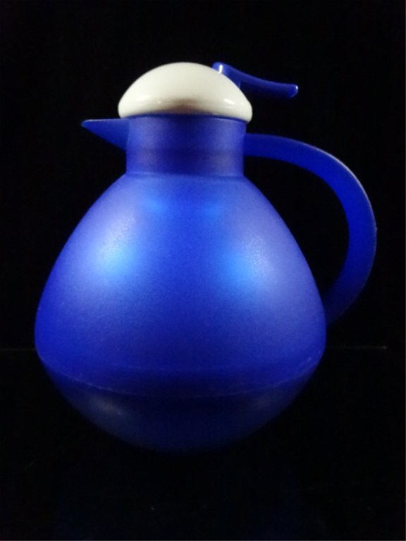 BLUE OGGI THERMAL VACUUM CARAFE WITH PRESS BUTTON TOP