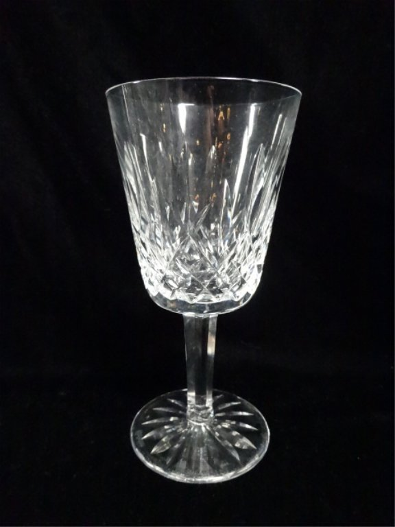 12 PC WATERFORD CRYSTAL WATER GOBLET GLASSES, LISMORE - 3