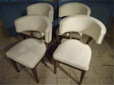 4 MID CENTURY MODERN CHAIRS CURVED BACKS CHROME