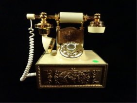"""Replica Antique French Rotary Telephone, Approx 9"""" X"""
