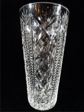 "Waterford Crystal ""clare"" Vase, 8""h, Sku719.35"