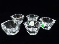 5 PC BACCARAT CRYSTAL INDIVIDUAL SALT CELLARS