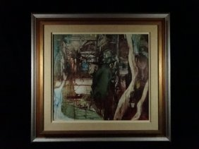 David Curtis Baker Painting On Board, Signed & Dated