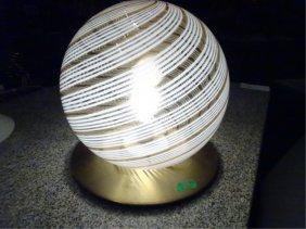 1970's Italian Murano Glass And Brass Lamp, Carlo