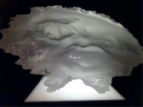 Michael Wilkinson Lucite Sculpture, 2 Nudes, Titled