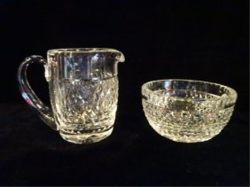"2 Pc Waterford Crystal ""alana"" Creamer And Sugar,"