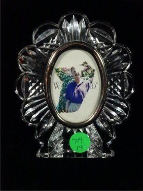 """Waterford Crystal Photo Frame, Approx 5.25""""h"""