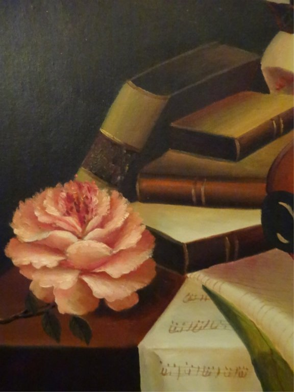 A. WARNER SIGNED OIL ON CANVAS PAINTING, STILL LIFE - 4