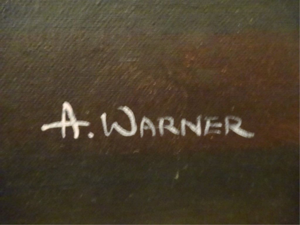A. WARNER SIGNED OIL ON CANVAS PAINTING, STILL LIFE - 5