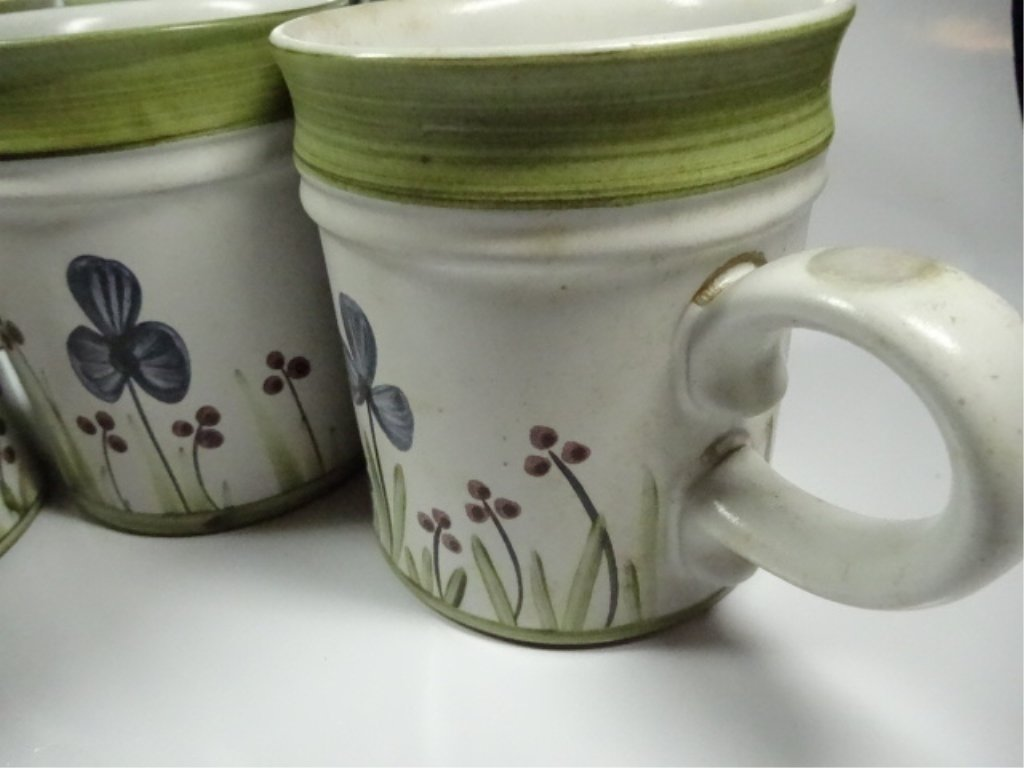 6 DENBY STONEWARE MUGS, MADE IN ENGLAND, FLORAL DESIGN, - 4