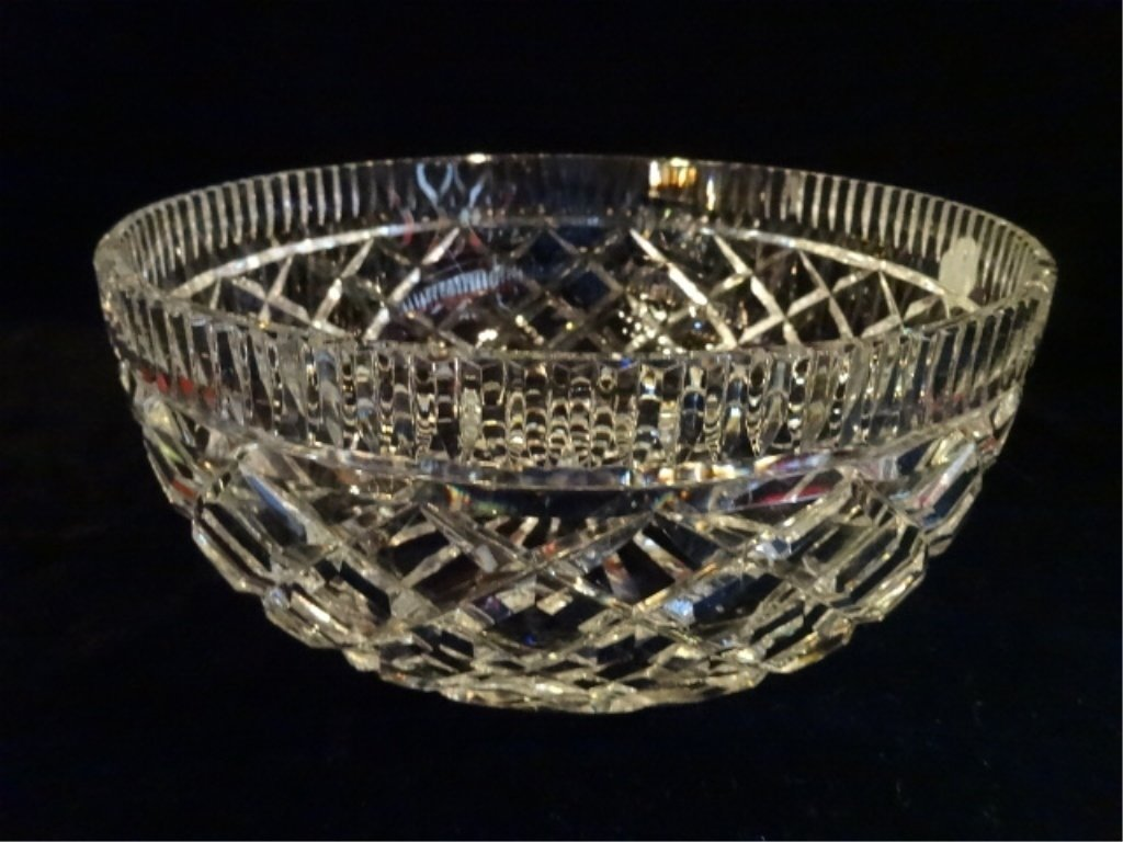 """WATERFORD CUT CRYSTAL """"ALANA"""" BOWL, ETCHED WATERFORD"""