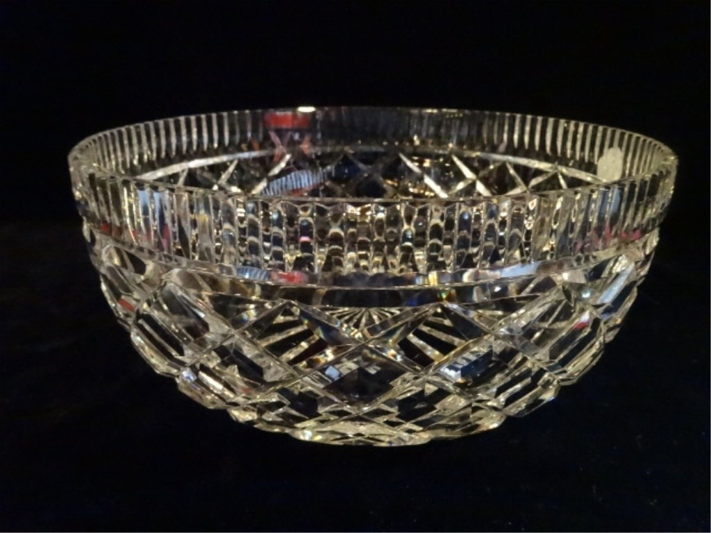 """WATERFORD CUT CRYSTAL """"ALANA"""" BOWL, ETCHED WATERFORD - 2"""
