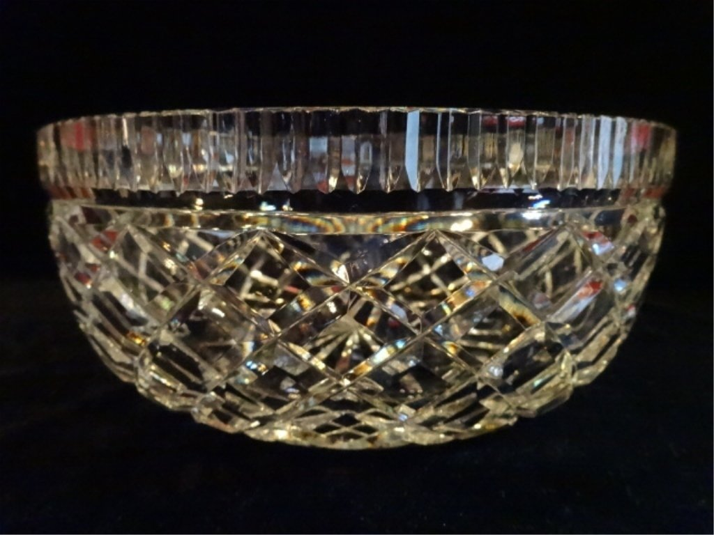 """WATERFORD CUT CRYSTAL """"ALANA"""" BOWL, ETCHED WATERFORD - 3"""