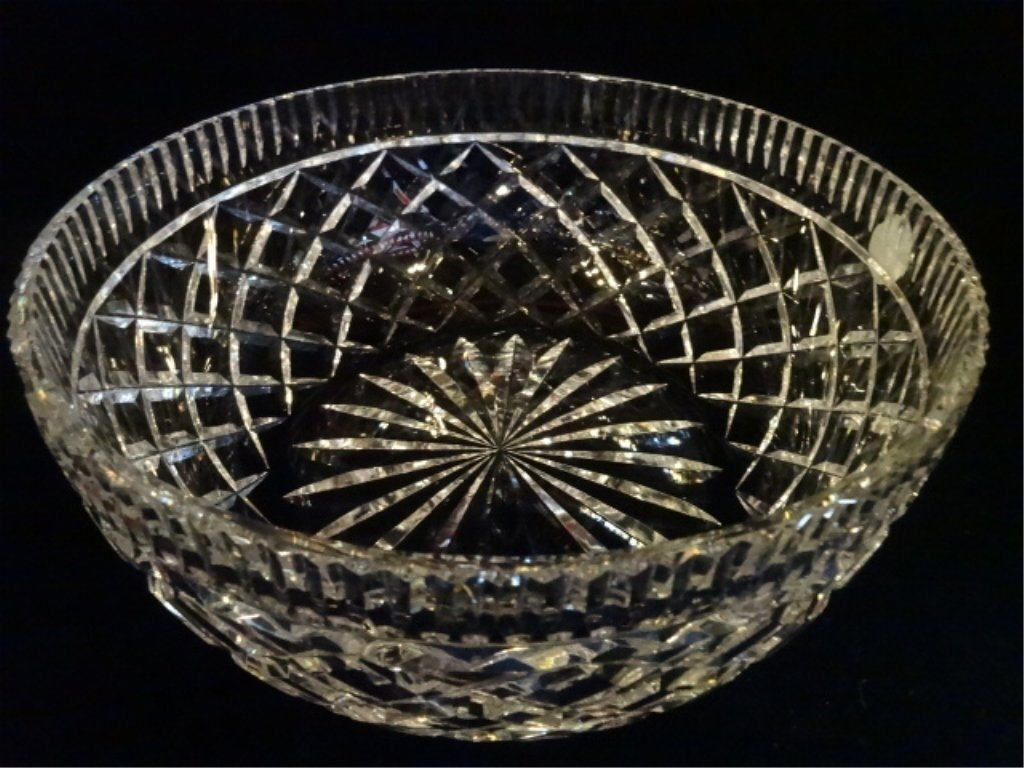 """WATERFORD CUT CRYSTAL """"ALANA"""" BOWL, ETCHED WATERFORD - 4"""