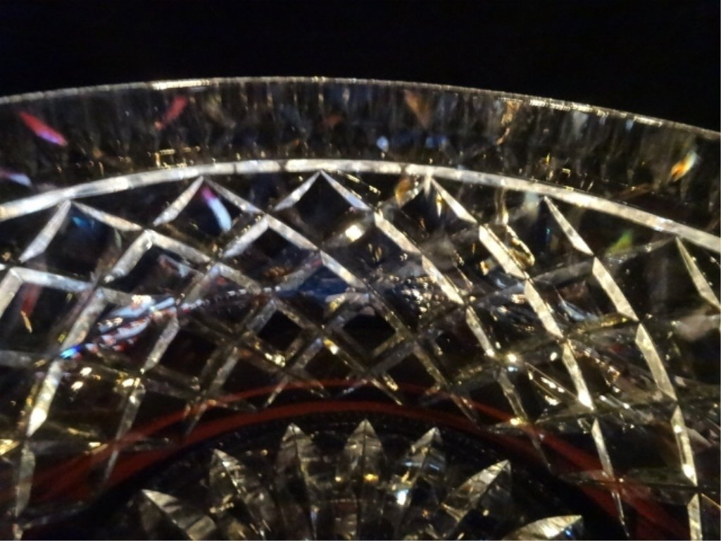 """WATERFORD CUT CRYSTAL """"ALANA"""" BOWL, ETCHED WATERFORD - 5"""