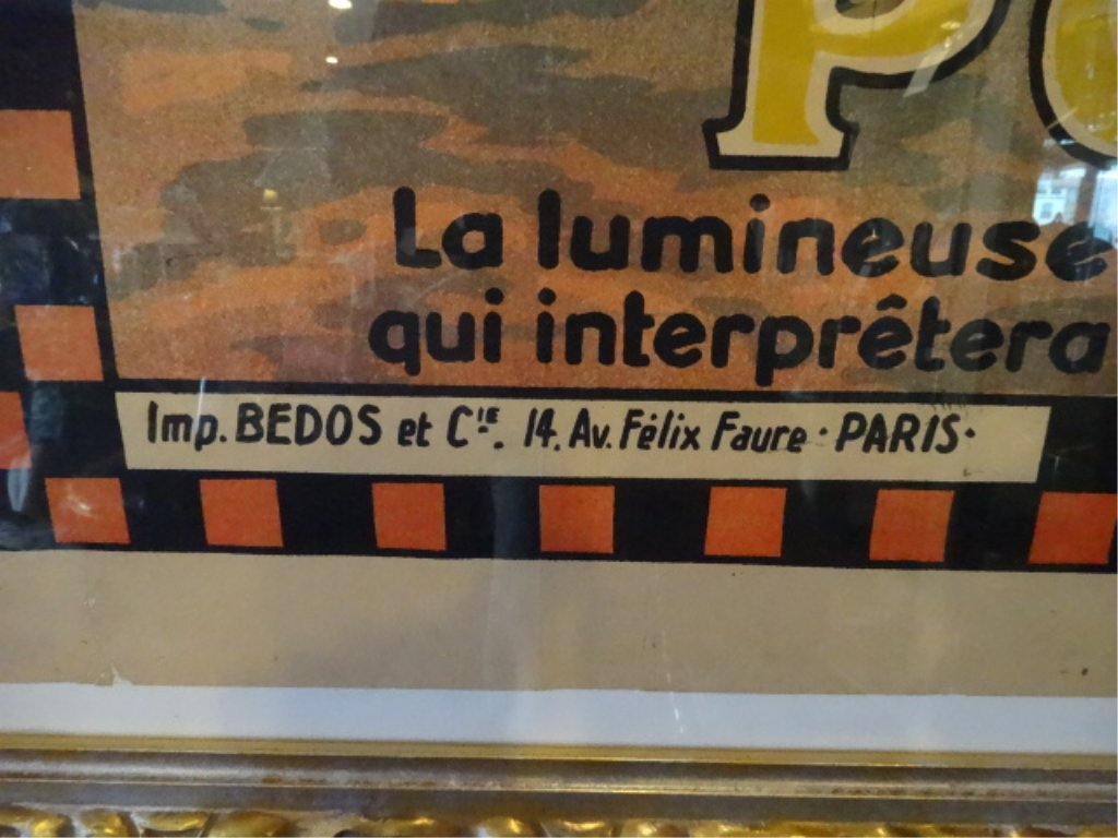 HUGE VINTAGE POLA NERY FRENCH COLOR LITHOGRAPH ADVERTIS - 10