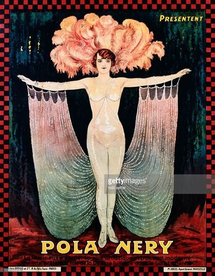 HUGE VINTAGE POLA NERY FRENCH COLOR LITHOGRAPH ADVERTIS - 2