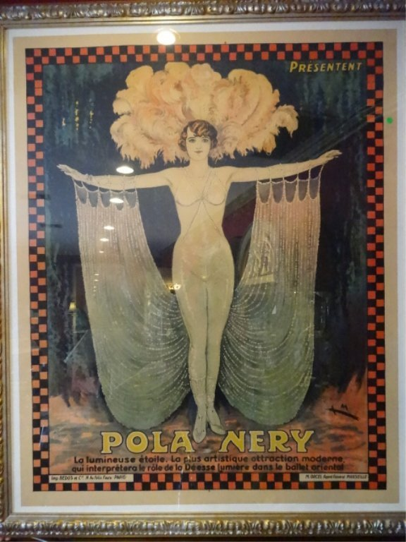 HUGE VINTAGE POLA NERY FRENCH COLOR LITHOGRAPH ADVERTIS - 7